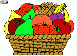 Small Picture Fruit Basket coloring page printable Fruit Basket