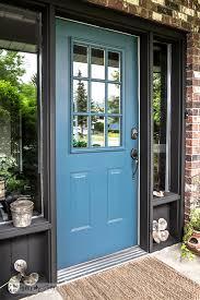 brown front doorIndustrial front door redo with painting tipsFunky Junk Interiors
