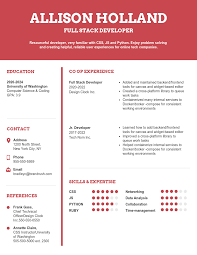 Red College Student Resume Template Template Venngage