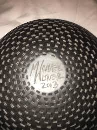 Michael Wisner Black Michael Wisner Pottery With Detailed Raised Checkerboard