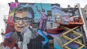 Artists plan to repair a mural of late justice ruth bader ginsburt. Mural Celebrating Ruth Bader Ginsburg Unveiled In New York S East Village