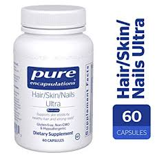 pure encapsulations hair skin nails ultra hypoallergenic supplement supports skin elasticity