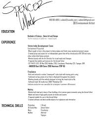Animator Resume Sample Makeupist Resume Cover Letter Job And Template Professional 83
