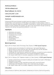 How To Layout Resume Professional Pcb Layout Engineer Templates To Showcase Your Talent