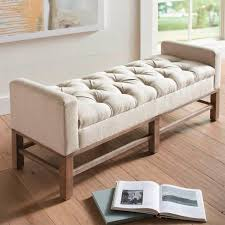 bedroom bench. the manchester bench has an elegant shape that incorporates side arms for leaning and relaxing. bedroom