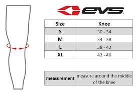 Evs Knee Brace Size Chart Evs Sx01 Knee Brace