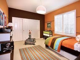 Orange And Black Bedroom Engaging Painted Bedroom Ideas With Black Orange Wall Color Plus