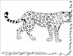 Leopard Coloring Page Craft Printables Kraftykid