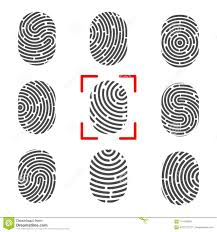 Fingerprint Design Creative Vector Illustration Of Fingerprint Art Design