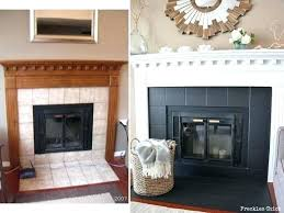 black tile fireplace before makeover ivory after granite surround decorations for graduation cakes