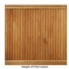 8 lin ft red oak tongue and groove wainscot paneling