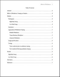 Sample Papers Apa Style Apa 6th Edition Sample Paper With Table Of Contents