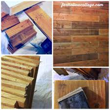rustic wood fence board plank wall diy tutorial