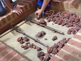 add lava rocks used in fireplaces and grills