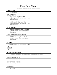 Resume Examples High School Student Sample Within Basic Template