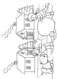 Paesaggio Invernale Da Colorare Per Bambini