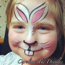 Small Picture The Bunny Face Painting by Carolina The Doodler Wolfe FX Face