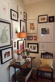 i love this corner gallery wall from little black door