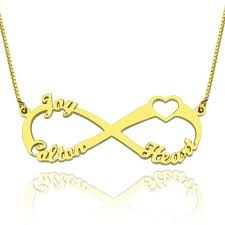 customized unique family names necklace 925 sterling silver pendant infinity heart letter necklaces girlfriend s gift