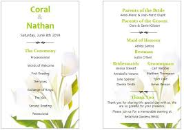 sample wedding program wording wedding wording flower design front and back wedding programmples
