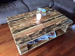 pallet coffee table with inside storage