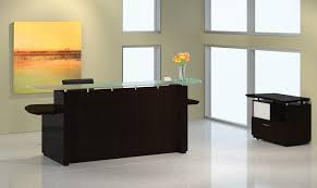 mayline sterling office furniture desks in mocha brown sugar for reception desk decorations 12