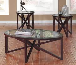 oval coffee table and end tables furniture industrial round glass sets fabulous set tabl