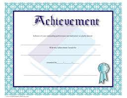 Achievement Awards Certificates Templates Achievement Award Certificate Template Download Printable