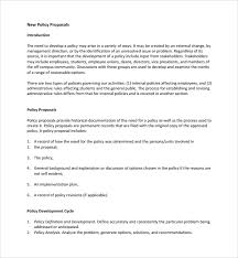 10+ Policy Proposal Templates | Sample Templates