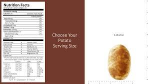 Potato Size Chart Products