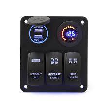 Why Do Led Lights Trip Breaker 12v 24v 3 Gang Rocker Switch Led Panel Circuit Breaker Blue For Car Boat Marine