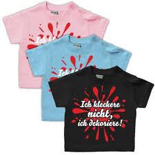 Baby T Shirt Ich Kleckere Nicht Ich Dekoriere Spruch Babyparty Spaß Gr 62 104