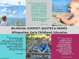 BILINGUAL QUOTES Bilingual Kidspot Interesting Education Quotes For Kids