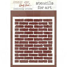 brick wall stencil stencils for art basically bricks