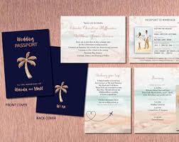 wedding booklet etsy Wedding Booklet rose gold passport style destination wedding invitations travel booklet ceremony details booking and wedding booklet templates