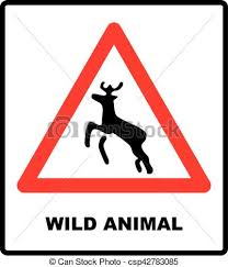 beware deer crossing warning traffic signs csp42783085