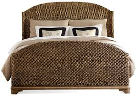 Seagrass Bedroom Furniture California King Woven Seagrass Bed By Riverside Furniture Wolf