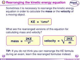 rearranging the kinetic energy equation