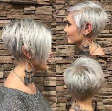 Cheveux Gris Femme Coupe Courte Cheveux Naturels