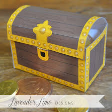 printable diy pirate treasure chest favor by lavenderlimedesigns