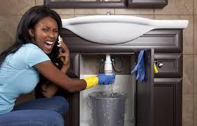Black girl and plumber