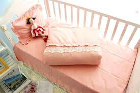 lace crib bedding baby girl princess gorgeous girls set cotton bed pink