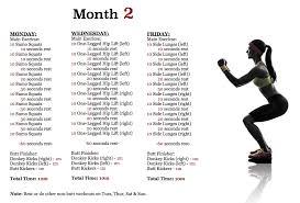 workout plan month 2