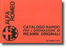 original parts manuals below is a list of original parts catalogs published by alfa romeo the publication number print date and quantity printed if known is listed
