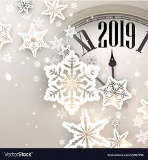 New Year Backgrounds Beige 2019 New Year Background With Clock Vector Image