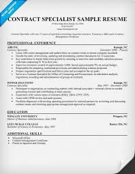 Contract Specialist Resume Example – Best Resume Template