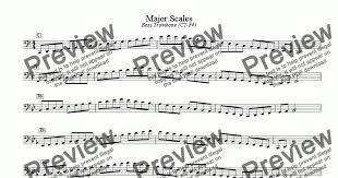Bass Trombone Position Chart Pdf Major Minor Scales Bass Trombone C2 F4 For Solo Instrument Bass Trombone By Mark Feezell Ph D Sheet Music Pdf File To Download