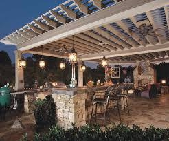 pergola lighting ideas. 22 Outdoor Kitchen Design Ideas Pergolas Kitchens And Pendant Lighting Pergola E