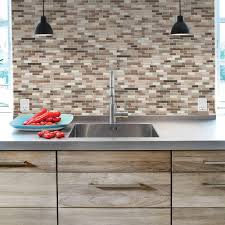 decorative kitchen wall tiles. Smart Tiles Muretto Durango 10.20 In. W X 9.10 H Peel And Stick Decorative Kitchen Wall Tiles R