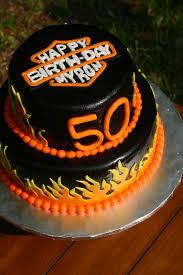 Harley Davidson Cake Decorations Harley Davidson Birthday Logo Cake Bake A Cake Pinterest